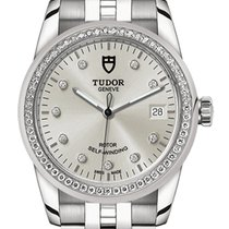 Tudor Glamour Date Steel 36,00mm Silver No numerals