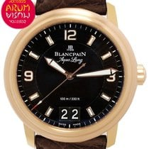 Blancpain Léman Or rose 40mm Noir