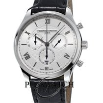 Frederique Constant Classics Chronograph Staal 40mm Zilver Romeins