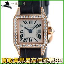 Cartier Santos Demoiselle pre-owned 16mm Silver Leather