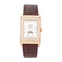 Jaeger-LeCoultre Rose gold Manual winding Silver No numerals 49.7mm pre-owned Reverso (submodel)