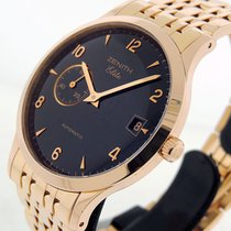 Zenith Rose gold Automatic Black 37mm new Elite