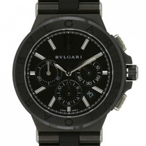 Bulgari pre-owned Automatic 42mm Black Sapphire Glass