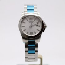 Longines Conquest Steel Silver