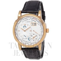 A. Lange & Söhne Rose gold Manual winding Silver Roman numerals 42mm pre-owned Lange 1