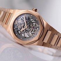 Girard Perregaux Rose gold Automatic Black No numerals 42mm new Laureato