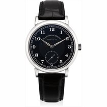 A. Lange & Söhne pre-owned Manual winding 40mm Black Sapphire Glass 3 ATM