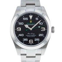 Rolex Air King Stahl 40mm Schwarz