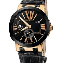 Ulysse Nardin Automatic Black 43mm pre-owned Executive Dual Time