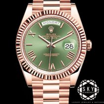 Rolex Rose gold Automatic Brown 40mm pre-owned Day-Date 40
