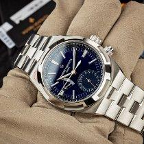 Vacheron Constantin Overseas Dual Time Stahl 41mm Blau Keine Ziffern