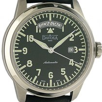 Davosa Simplex Day-Date Automatic Stahl Armband Leder 44mm
