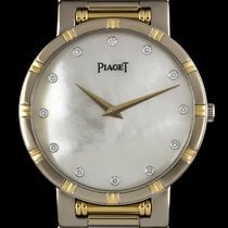 Piaget 18k W/G & 18k Y/G MOP Diamond Dial Dancer B&P 84023K81