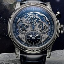 Louis Moinet Memoris Hvitt gull 46mm Ingen tall