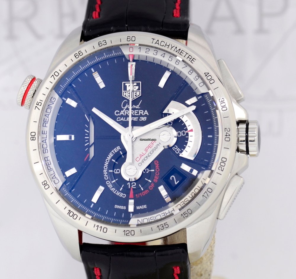 9ba849ac6b8 TAG Heuer Grand Carrera Calibre 36 Caliber Linear System El... for $6,694  for sale from a Trusted Seller on Chrono24