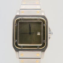 Cartier Santos Galbee 18k Gold Steel Automatic 29mm