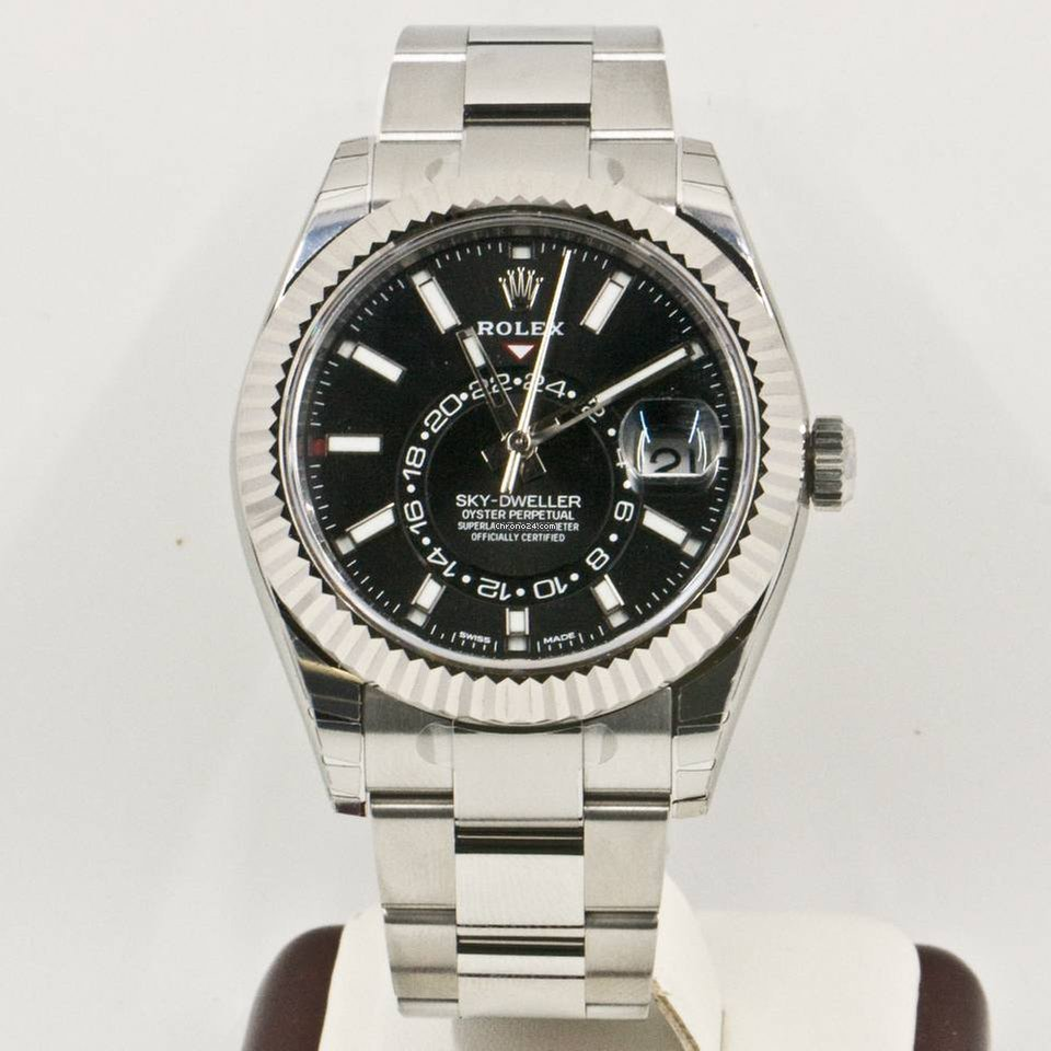 Rolex Sky,Dweller 326934 Black Face Box \u0026 Papers 2017 Model