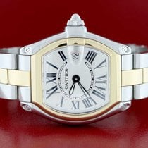 Cartier Roadster Ladies Small 2-Tone Gold/Steel Roman Dial...