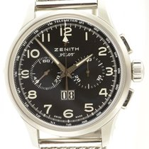 Zenith Pilot 03.2410.4010 Chronograph Steel Automatic Big Date...