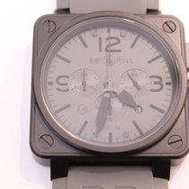 Bell & Ross Steel Automatic Black Arabic numerals 46mm new BR 01-94 Chronographe