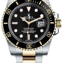 Rolex Submariner Date подержанные 40mm Золото/Cталь