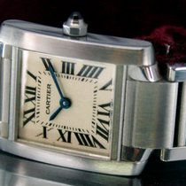 Cartier Tank Française Roman Swiss Steel Quartz Watch