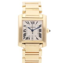 Cartier Tank Française Yellow gold 28mm White Roman numerals