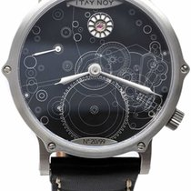 Itay Noy pre-owned Manual winding 41mm Black Sapphire Glass 5 ATM