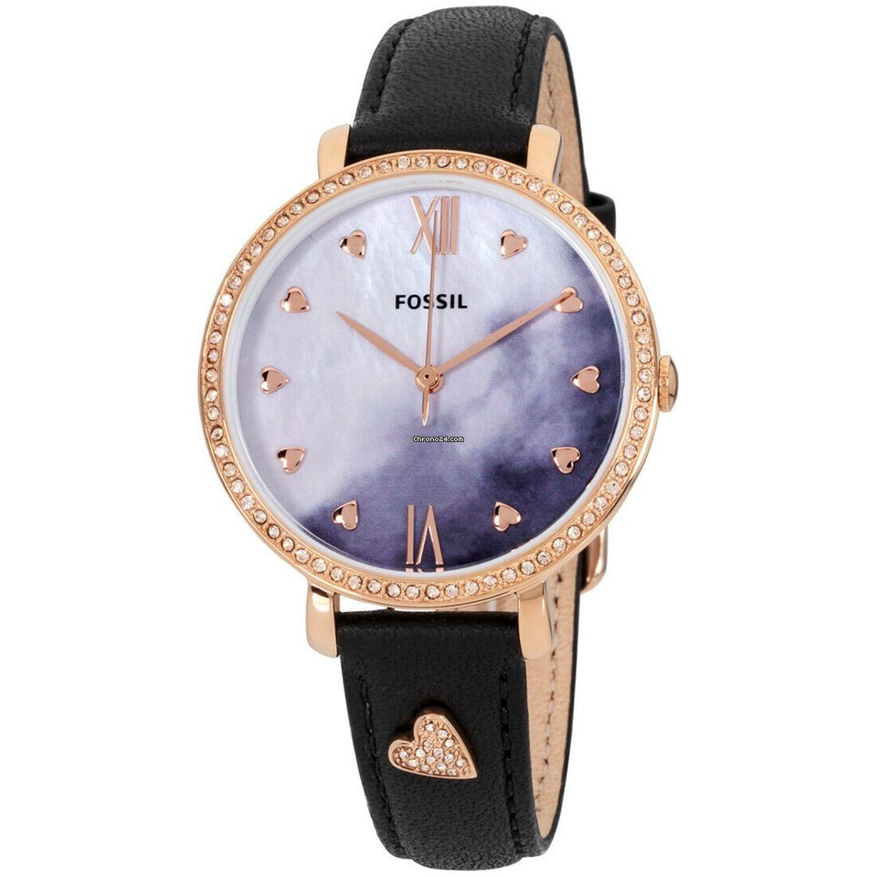 Fossil Es4533 Ladies Jacqueline Watch Quartz Dial Pearl Of Mother Movement HbeEYWDI92