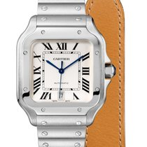 Cartier Santos (submodel) Steel 39.8mm Silver Roman numerals United States of America, California, Los Angeles