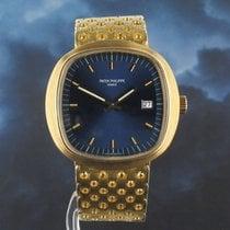 Patek Philippe Beta 21 Żółte złoto 43mm Niebieski
