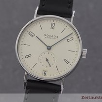 NOMOS Tangente pre-owned 35mm Silver Date Leather