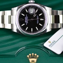 Rolex Datejust Сталь 36mm Чёрный Без цифр