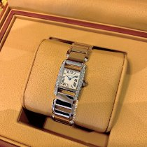 Cartier Tank (submodel) White gold 20mm Silver Roman numerals United States of America, New York, New York