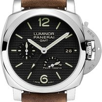 Panerai Luminor 1950 3 Days GMT Power Reserve Automatic Zeljezo 42mm Crn Arapski brojevi