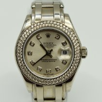 Rolex Pearlmaster Or blanc 29mm Argent Sans chiffres