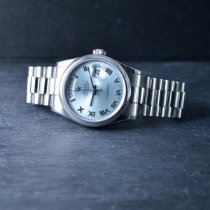 Rolex Day-Date 36 Platino 36mm Blu Romano Italia, Genova