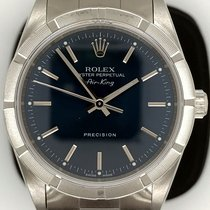 Rolex Air King Precision Steel 34mm Blue No numerals United States of America, New York, New York