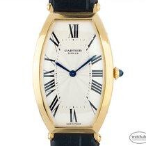 Cartier Tonneau Oro amarillo 39mm Blanco Romanos
