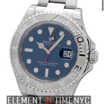 Rolex Yacht-Master Stainless Steel And Platinum Blue Dial 40mm