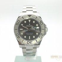 Rolex Yacht-Master Edelstahl / Platin 37 Ref. 268622 Rhodium Dial