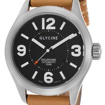 Glycine 44mm Automatic pre-owned Black