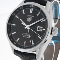 TAG Heuer Carrera Calibre 7 Twin Time Automatik Stahl an...