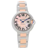Cartier Ballon Bleu Midsize Ladies Steel Rose Gold Watch W6920070