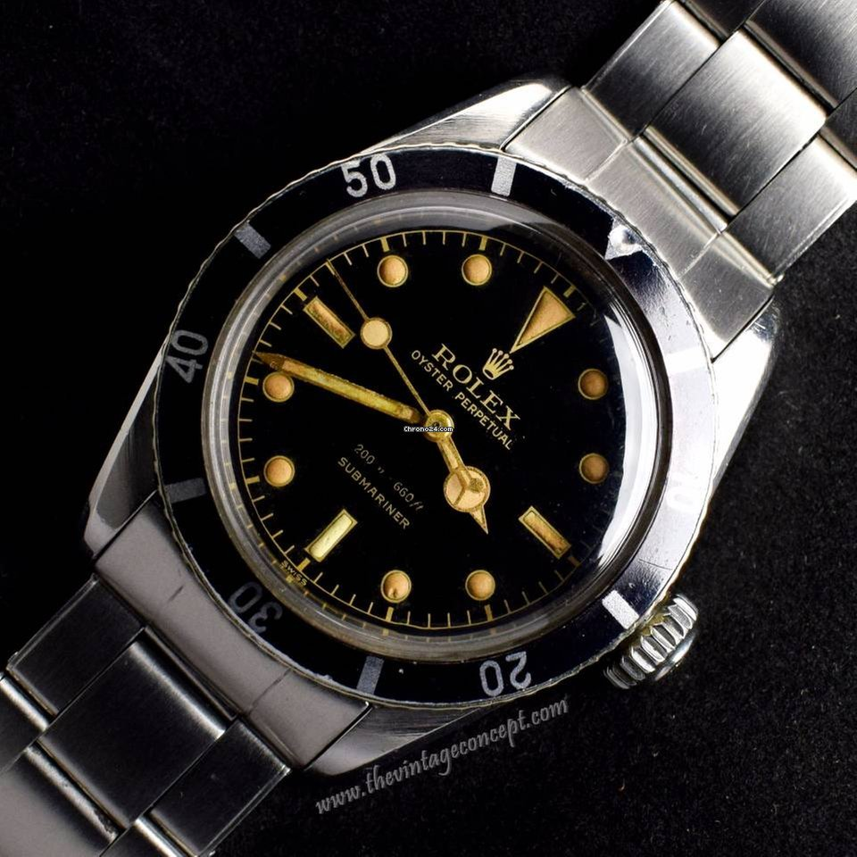Rolex 6538 Submariner Big Crown Gilt Dial