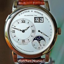 A. Lange & Söhne Yellow gold Manual winding Silver pre-owned Lange 1