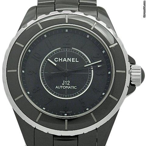 6bb668d6 Chanel J12 H3829 Intense Black Ceramic Men's 38mm Automatic Case Watch Wrist