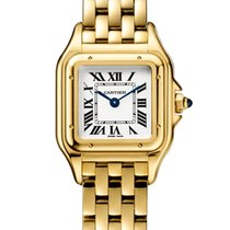 Cartier Panthère Yellow gold 22mm Silver Roman numerals United States of America, New York, New York