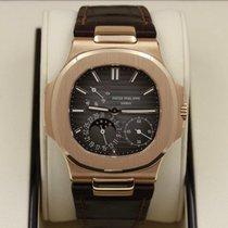 Patek Philippe Nautilus Rose gold 40mm Brown No numerals