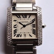 Cartier Tank Française Or blanc 28mm Romain